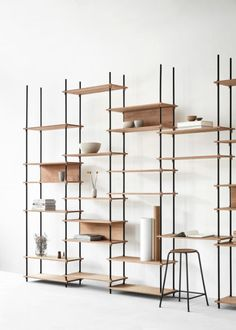Modular Wooden Shelving Systems - Moebe's Storage Furniture Design Requires No Tools for Assembly (GALLERY) System Furniture, Home Decor Furniture, Cool Furniture, Living Room Furniture, Furniture Design, Timber Furniture, Inexpensive Furniture, Furniture Movers, Furniture Chairs