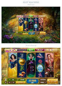 """Snow wild"" slot machine on Behance Play Casino Games, Online Casino Games, Online Games, Gambling Games, Arcade Machine, Slot Machine, Game Interface, Game Background, Game Concept"