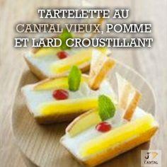 #Recette : Tartelette au #Cantal Vieux, pomme et lard croustillant