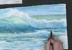 Drawing Techniques Making Waves - Techniques for Painting Ocean Waves in Watercolor with Susie Short Watercolour Tutorials, Watercolor Techniques, Painting Techniques, Painting Videos, No Wave, Painting Lessons, Art Lessons, Painting & Drawing, Gouache Painting