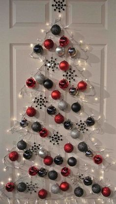 diy christmas tree cheap easy and space friendly way to decorate