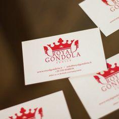 Royal Gondola #logo #businesscard #gondola #venice