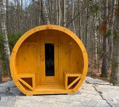 Wood Burning or Electric Barrel Saunas. We offer 3 different sizes of barrel saunas with the option for a cool down porch. Barrel Sauna, Steam Sauna, Through The Roof, Electric Stove, All Stainless Steel, Steam Room, Saunas, True North