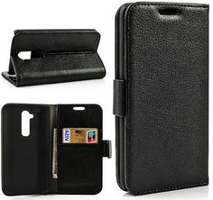 myLife Shiny Black {Luxury Design} Faux Leather (Multipurpose - Card, Cash and ID Holder + Magnetic Closing) Folio Slimfold Wallet for the L...