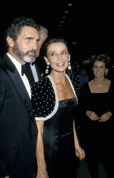 Audrey Hepburn with Rob Wolders at a gala film tribute to Audrey Hepburn.