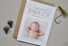 Parker's Little Fisherman Birth Announcements | Design and Photo Credit: Palm Papers | Printing: Czar Press