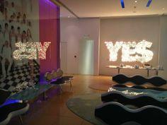 #Semiramis' #lobby captivating colours at night! #yeshotels #athens