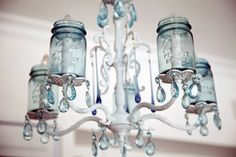 another of our Mason jar chandeliers