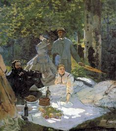 Luncheon on the Grass - Center Panel by Claude Monet