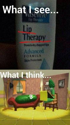 Veggie Tales lip therapy  #christian #memes #christianmemes