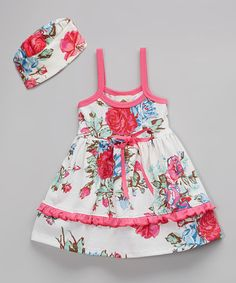Loving this Pink Bridge Hampton Floral Lily Dress - Infant & Toddler on #zulily! #zulilyfinds