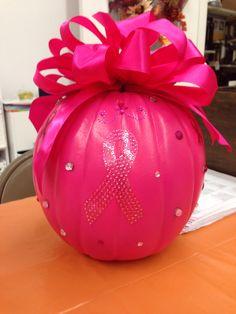 Breast cancer awareness pumpkin.