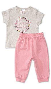 Pyjama pour bébé en coton biologique in beige chiné