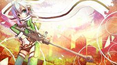 Sword Art Online 2 Sinon Sniper Girl Anime High Definition HD Wallpaper…