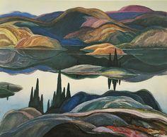 Mirror Lake, 1929, Franklin Carmichael