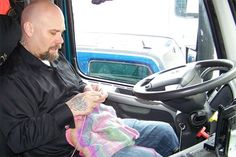 Truckers Take to Knitting and Quilting