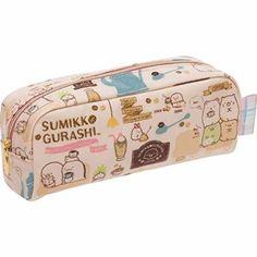 San-X Sumikko Gurashi, Things in the corner, Pen pouch COFEE 19 x 6 x 7 cm