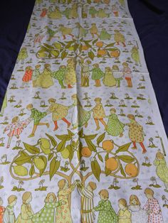 A  Length of Vintage Sanderson Nursery Curtain Fabric by AnnaLiviaLinens on Etsy https://www.etsy.com/listing/241890623/a-length-of-vintage-sanderson-nursery