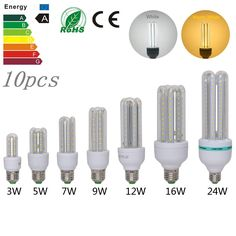 ==> [Free Shipping] Buy Best 10PCS/LOT 3W/5W/7W/9W/12W/16W/24W E27 AC85-265V SMD2835 U-shaped LED Corn Light Lamp Bulb Warm White/Cold White Free Shipping Online with LOWEST Price | 32546008222