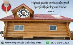 Exterior and Interior Log Home Re-Finishing in Colorado