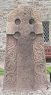 The Picts were a group of Late Iron Age and Early Mediaeval Celtic people living in ancient eastern and northern Scotland.[1] There is an association with the geographical distribution of brochs, Brythonic place name elements, and Pictish stones.