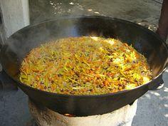Simmering Plov (Rice Dish) - Tashkent, Uzbekistan by uncorneredmarket, via Flickr