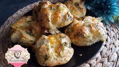 Mozzarella-Knoblauch Brötchen - Rezept von Punds Backparadies Party Snacks, Mozzarella, Muffin, Breakfast, Food, Youtube, Bread Baking, Breads, Garlic
