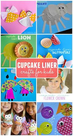 Creative Cupcake Liner Crafts for Kids to Make (Find a lion, elephant, angel, tree, reindeer, crab, fish, and many more art projects!) | CraftyMorning.com