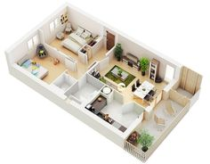 25 House Plans with Two Bed Rooms | House Plans