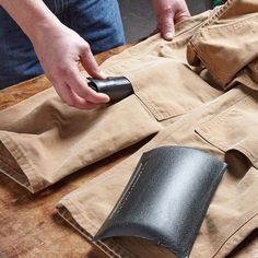 Reinforced knees on your bib overalls make them last longer, but why are there holes at the bottoms of the reinforcement? Turns out there are two good reasons for it. One, when the top layer of fabric gets a hole in it, debris collects inside, and the opening lets you clean it out. And two, you can slide knee pads, like these Soft Knees from Working Concepts Inc., into that space. So, as long as you're wearing my bibs, you don't have to mess with my uncomfortable strap-on knee pads. The foam…