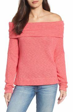 Main Image - Caslon® Convertible Neck Knit Pullover (Regular & Petite)