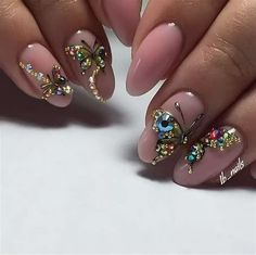 """See our site for additional relevant information on """"trending nail designs nail art"""". It is an exceptional area to read more. Simple Nail Art Designs, Easy Nail Art, Cool Nail Art, Nail Designs, Swarovski Nail Crystals, Crystal Nails, Nail Art Brushes, Top Nail, Artificial Nails"""