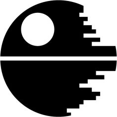 Image result for black and white death star