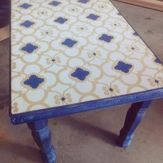 Chez Ali Stencil in two colors by the fab Jaimee Ulmer of the Craft Interrupted blog!