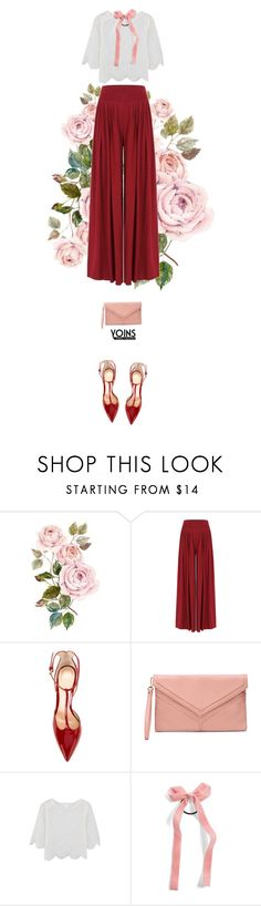 """""""Roses Yoins."""" by francesca-belotti ❤ liked on Polyvore featuring Gianvito Rossi, Cara, yoins, yoinscollection and loveyoins"""