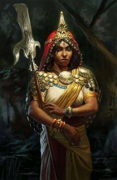 warriors of fantasy  female persuassion | Vala Picture (2d, fantasy, woman, warrior, indian):