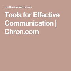 Tools for Effective Communication   Chron.com