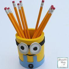 Despicable Me Minions Craft Idea Foam Pencil Holder
