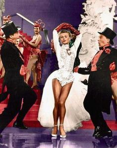 Vera Ellen dancing with Danny Kaye and Bing Crosby in White Christmas