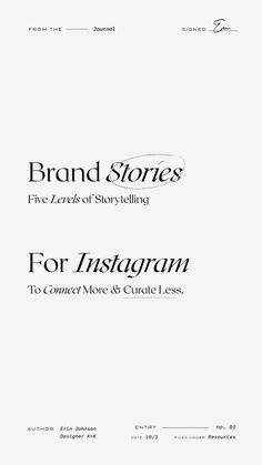 Genuinely helpful advice for 5 levels of brand storytelling for social media to help small creative businesses and entrepreneurs connect more and curate less. Web Design, Page Design, Graphic Design, Cover Design, Identity Design, Brand Identity, Corporate Identity, Corporate Design, Brochure Design