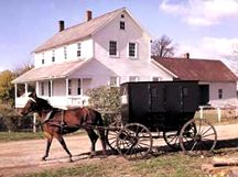 Nappanee, IN - At Amish Acres Historic Farm & Heritage Resort you can witness the Amish way of life first hand, tour a round barn, and purchase many fine Amish products.
