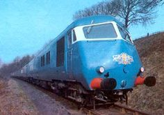The Blue Pullman was very unique in its appearance, but was so slow - .even by standards of the day - that many questioned its credentials as a high-speed train. Live Steam Locomotive, Electric Locomotive, Diesel Locomotive, E Electric, Electric Train, Station To Station, Train Of Thought, Abandoned Train, British Rail