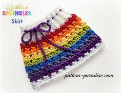 Free Crochet Pattern -X Stitch, Sparkle & Sprinkles Skirt | Pattern Paradise