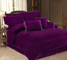 Purple Comforter Sets Queen For Girls . Purple Comforter, Purple Bedding Sets, Bed Comforter Sets, Purple Bedrooms, Comforters, Purple Pillows, Zebra Bedding, Girls Queen Bedding, Queen Bed Sheets
