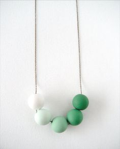 BEADED CLAY NECKLACE by A Quiet Curiosity