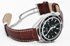 One of our customers Omega Planet Ocean on Hirsch watch strap bought at WatchObsession