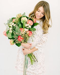 The most heavenly bouquet by @katydidflorals. Did you catch today's new post with @jessalovelight @elizajdresses @gildedlilyevents? Link in bio! #LWD #florals #lace #bridetobe #liketkit@liketoknow.it http://liketk.it/2obFM