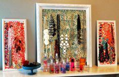 DIY jewelry / necklace storage -- super easy