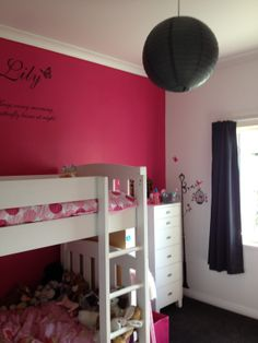 It's all about COLOUR ME PINK by Resene in my daughters room :)