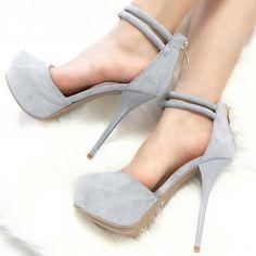 Ankle Strap Platform High Heels